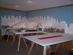 Making a Foam Christmas Village Display