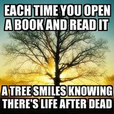 Each time you open a book…