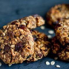 Skořicovo-jablečné cookies s rozinkami (z ovesných vloček)