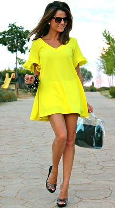 Neon Yellow Summer Dress