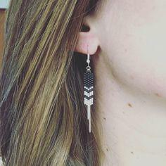 Boucles d'oreilles MAIA Noir - Création Artistic Bracelet