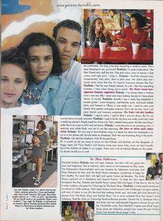 Rashida Jones & Kidada Jones in Sassy, February 1992