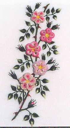 wild rose - Brazilian embroidery