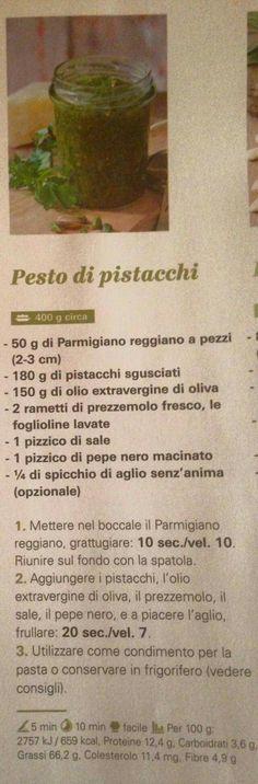 Pesto pistacchi