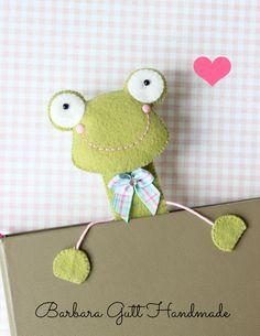 Barbara Handmade...: Żabie zakładki/ Frog bookmarks