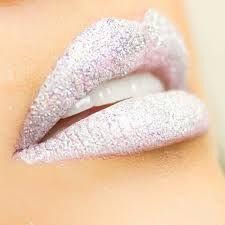 Image result for white sparkly lipstick
