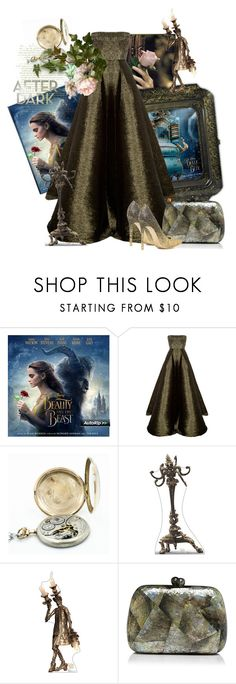 """""""After Dark"""" by the-house-of-kasin ❤ liked on Polyvore featuring Alex Perry, Hamilton, Serpui, Disney, BeautyandtheBeast, contestentry and gownsgalore"""
