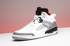 promo code 2687f 77693 The Jordan Spiz ike returns in the OG White Cement motif. Cop a pair for  below retail while supplies last.