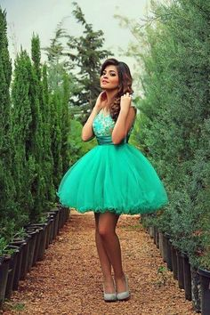 Turquoise Homecoming Dress,Tulle Homecoming Dresses,Ball Gown Homecoming Dress,Lace Party Dress,Short Prom Gown,Sweet 16 Dress