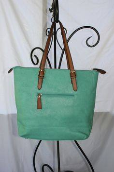 Alfa Tote Handbag in Teal $70.00  Go to jtnmissions.org to order yours today!  100% of the proceeds go to missions local and worldwide.