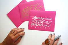 DIY: HAND LETTERED ENVELOPES W/ SHARPIE — Molly Jacques