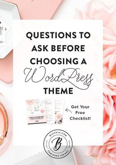Read these key questions to ask yourself before choosing a WordPress theme. We've highlighted them and included a checklist to help you through the process. Wordpress For Beginners, Learn Wordpress, Blogging For Beginners, Wordpress Theme Free, Wordpress Demo, Wordpress Guide, Branding, Questions To Ask, This Or That Questions