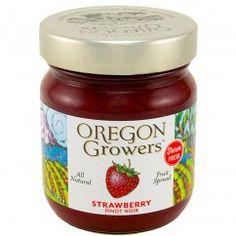 Oregon Growers & Shippers Strawberry Pinot Noir Fruit Spread 12 oz.