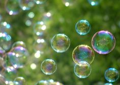 Wonder  5x7 Photograph  Bubbles on Green  by FlandersField on Etsy, $15.00