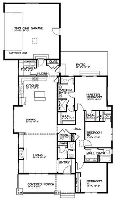 Perfect for Narrow Lots HWBDO10424 Bungalow House Plan from