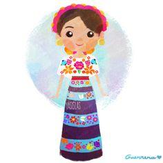 México colores y diseños de sus trajes típicos Guerrero