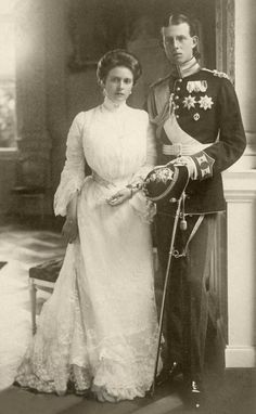 Prince Andrew of Greece and his wife Princess Andrew of Greece (nee Princess Alice of Battenberg) parents of Prince Philip