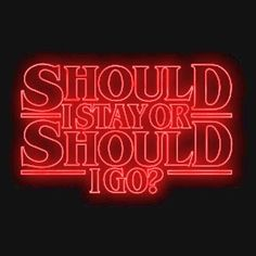 The Should I Stay or Should I Go Stranger Things shirt features the song Will Byers listens to. Dark Souls, Should I Stay, Stranger Things Aesthetic, Stranger Things T Shirt, Eleven Stranger Things, Stranger Things Netflix, Will Byers, Visual Statements, Film Serie