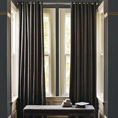 """Velvet Grommet Curtain - Iron, 96"""" $79"""