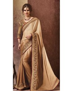 Stutti Fashion Exclusive Golden Color Saree At Rs.4299