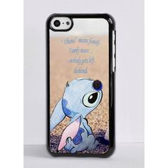 Lilo and Stitch Disney Quote Cute Cartoon Phone Case Cover fits Iphone... ($5.57) ❤ liked on Polyvore featuring accessories, tech accessories, phone cases, phones, electronics, cases, comic book and disney