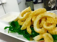 Fried calamari with lime aioli Fried Calamari, Wine List, Hotel S, Craft Beer, Brewery, Fries, Restaurant, Meals, Kitchens