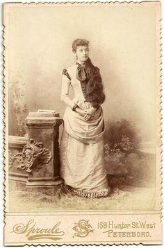 1890 Cabinet Card Photo Beautiful Girl with Long Hair Peterborough Ontario | eBay