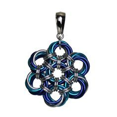 Peony Flower Pendant Chainmaille Kit and Tutorial   DIY Jewelry   Blue Buddha Boutique