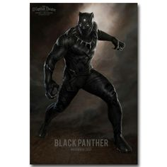 NICOLESHENTING BLACK panther - Captain America Civil War NEW Art Silk Poster Canvas Print Movie Pictures for Wall Decor 057 #Affiliate - Visit to grab an amazing super hero shirt now on sale!