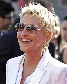Ellen DeGeneres! So generous, warm-hearted, kind, caring, and funny! And she's so proud of who she is!