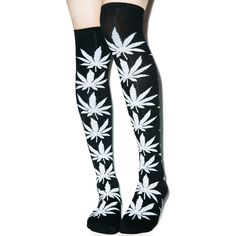 HUF Plantlife Thigh High Socks ($6) ❤ liked on Polyvore featuring intimates, hosiery, socks, accessories, ribbed socks, embroidered socks, huf, thigh high socks and patterned hosiery