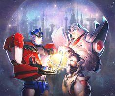 Golden Age - Orion Pax & Megatronus.