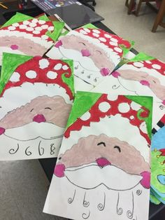 """We are """"wrapping"""" up Christmas here the art room! Here's a few things we have been working on this season!        These students looked so c..."""