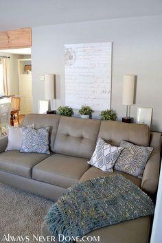 Hometalk :: DIY Thin Sofa Table