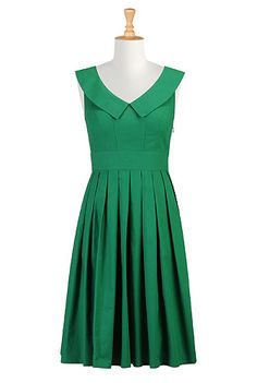 eShakti Collared green dress