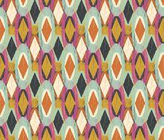 Sequoyah Oval Ikat fabric by bohemiangypsyjane on Spoonflower - custom fabric