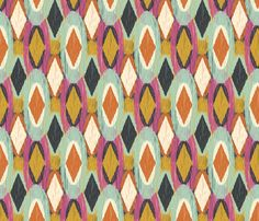 Sequoyah Oval Ikat fabric by bohemiangypsyjane on Spoonflower - custom fabric