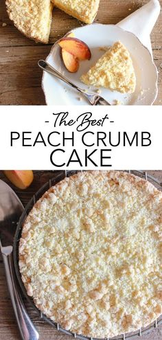 Easy Italian Peach Crumb Cake, made with fresh or canned Peaches, a deliciously buttery crumb bottom and topping, filled with a simple Peach filling. This easy Crumb Cake recipe is the perfect anytime Dessert! Try it this summer with fresh peaches! #crumbcake #peach Homemade Cake Recipes, Cupcake Recipes, Snack Recipes, Dessert Recipes, Easy Desserts, Delicious Desserts, Yummy Food, Easy Crumb Cake Recipe, Summer Pasta Dishes
