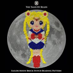 These beads will tell you the tale about Sailor Moon. She is the champion of justice! On behalf of the moon, she will right wrongs and triumph over evil. Stay tuned for other Sailor Soldiers! ^^ Width: 1.5 (4cm) Length: 3.4 (9cm) Colors: 9 Stitch: Brick Stitch / Peyote Beads: Miyuki