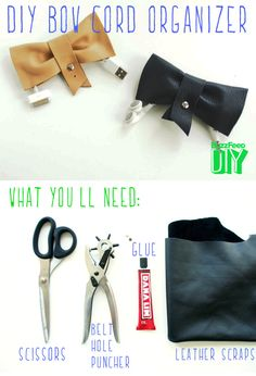 Bow Cord Organizer // 5 Easy and Adorable Ways to Organize Your Cords