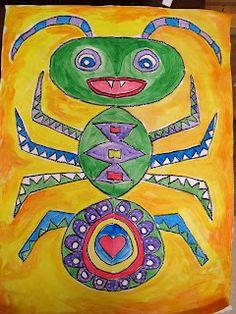 bug symmetry art project for kids First Grade Art, Second Grade, Fourth Grade, Symmetry Art, Bug Art, Ecole Art, Math Art, Insect Art, Teaching Art