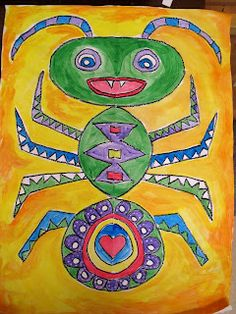 Symmetrical bugs- great for first or second grade