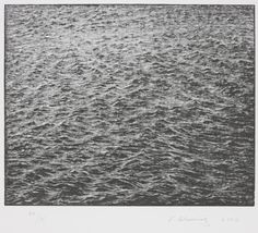 Ocean Surface Wood Engraving 2000, 2000  Vija Celmins  Wood engraving on Zerkall paper