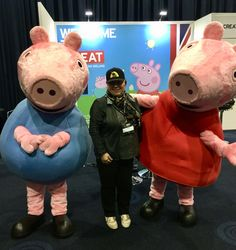 Heckerty with #PeppaPig and #George.