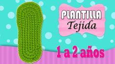 Plantilla tejida a crochet 1 a 2 años  | paso a paso - YouTube
