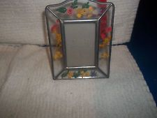 VINTAGE PRESSED FLOWER GLASS STANDING FRAME