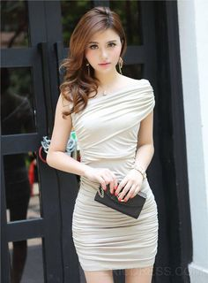 Bought by Jeremy: Buying this dress here is a good shot and their customer service is really nice and kind.  2014 Chic Slim Slanting Bodycon Dress Sexy & Clubwear Dresses #ericdress.com,#ericdressreviews,#ericdress - 10541251