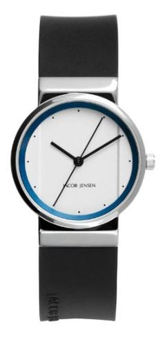 Jacob Jensen 760 Ladies Black White Watch