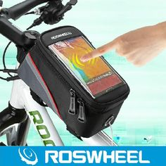 "WOSAWE 4.2"" 4.8"" 5.5""1-1/1.5L Cycling Bike Bicycle bags panniers Frame Front Tube Bag For Cell Phone MTB Bike Touch Screen Bag"
