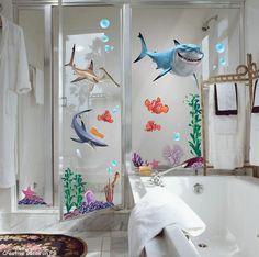 Perfect shower fun!  Where's Dory?